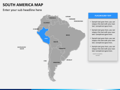 South america map PPT slide 10