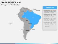South america map PPT slide 12