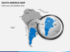 South america map PPT slide 13