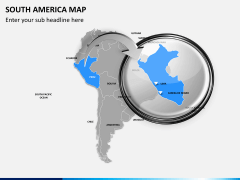 South america map PPT slide 14