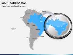 South america map PPT slide 16