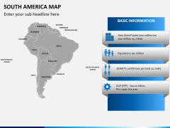 South america map PPT slide 19