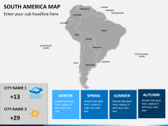 South america map PPT slide 20