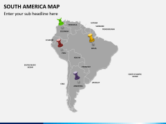 South america map PPT slide 3