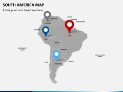 South america map PPT slide 4