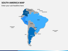 South america map PPT slide 8
