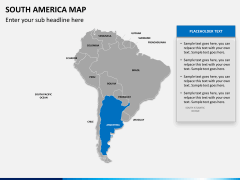 South america map PPT slide 9