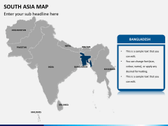 South asia map PPT slide 10