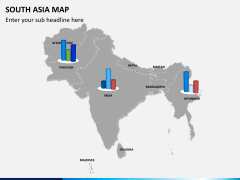 South asia map PPT slide 12