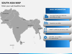 South asia map PPT slide 13