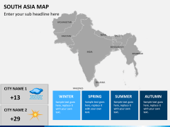 South asia map PPT slide 14
