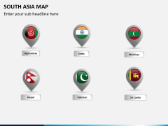 South asia map PPT slide 16
