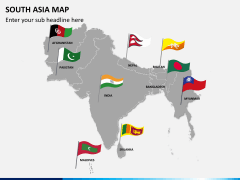 South asia map PPT slide 3