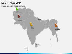 South asia map PPT slide 4