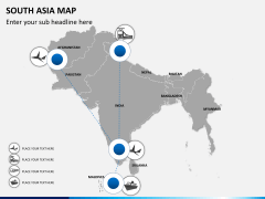 South asia map PPT slide 6