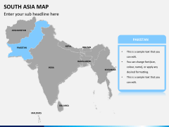 South asia map PPT slide 8