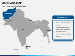 South asia map PPT slide 9