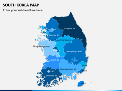 South korea map PPT slide 1