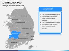 South korea map PPT slide 10