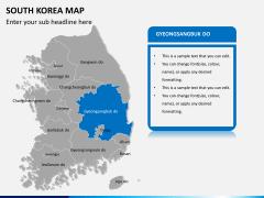 South korea map PPT slide 11