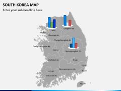South korea map PPT slide 13