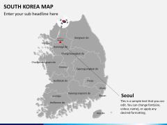 South korea map PPT slide 16