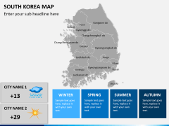 South korea map PPT slide 17