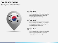 South korea map PPT slide 18
