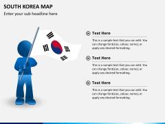 South korea map PPT slide 19