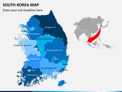 South korea map PPT slide 2