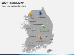South korea map PPT slide 4