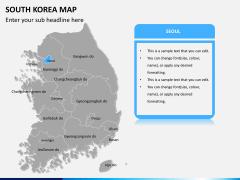 South korea map PPT slide 8