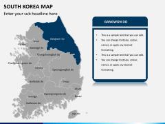 South korea map PPT slide 9