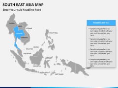South East Asia Map PPT slide 11