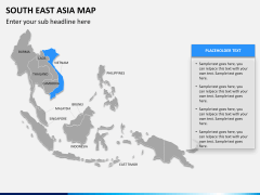 South East Asia Map PPT slide 12