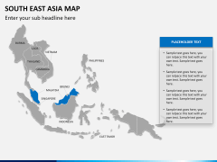 South East Asia Map PPT slide 13
