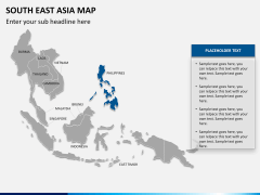 South East Asia Map PPT slide 14