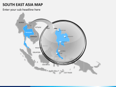 South East Asia Map PPT slide 15