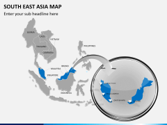 South East Asia Map PPT slide 17