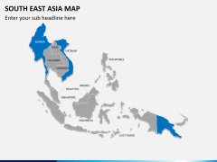South East Asia Map PPT slide 2