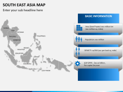 South East Asia Map PPT slide 20