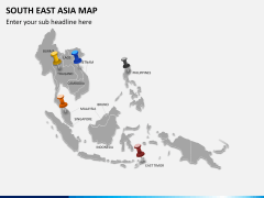 South East Asia Map PPT slide 3