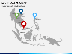 South East Asia Map PPT slide 4