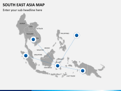 South East Asia Map PPT slide 7