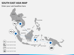 South East Asia Map PPT slide 8