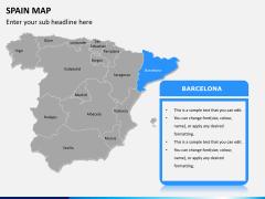 Spain map PPT slide 10