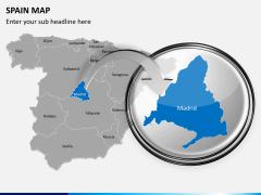 Spain map PPT slide 12