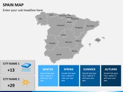 Spain map PPT slide 17