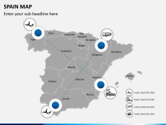 Spain map PPT slide 6