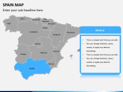 Spain map PPT slide 9